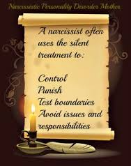 Silent treatment from a narcissist