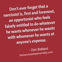 narcissist-is-opportunist