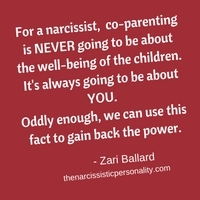 co-parent with narcissist